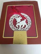 Lenox Pierced Reindeer Ornament in Original Box