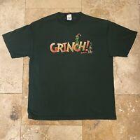 Vintage Grinch Dr. Seuss T-Shirt 2001 Size XL
