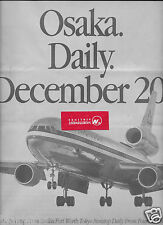 AMERICAN AIRLINES MD -11 NONSTOP TO OSAKA,JAPAN FROM DALLAS FT WORTH 1998 AD