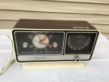 Vintage 1960's-70's ZENITH Faux Wood Alarm Clock Radio F-252W Circle of Sound