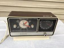 Vintage 1960's-70's ZENITH Faux Wood Alarm Clock Radio F-252W Circle of Sound