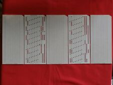 5 pcs USSR Computer Mainframe Punch Card Perforated 1980s NOS IBM UNIVAC format