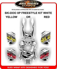 FREESTYLE SKI-DOO XP SLED WRAP DECAL GRAPHIC WHITE KIT rev mxz summit  2008-12
