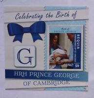 2013 St VINCENT & GRENADINES PRINCE GEORGE BIRTH BEQUIA STAMP MINI SHEET