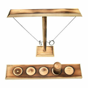 Hook and Rings Toss Battle Game Kids Adults Drinking Games Table Top Ring Toss