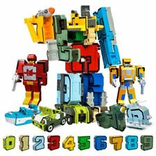 10Pcs Figure Number Creative Assembling Educational Blocks Robot  Gift Toys