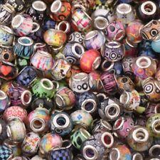 Cheap Set of 50 Pandora Bracelets Multi-Colored Charm Beads Big Hole Mix Sale
