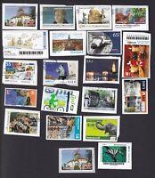 20 verschiedene  Privatpost   Briefmarken auf Papier .... Gestempelt