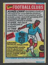Anglo-American Gum Bell Boy wax wrapper Noted Football Clubs #57 - King's Lynn