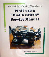Pfaff 130 Sewing Machine Service Manual CD