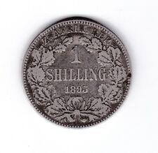 1895 South Africa Silver Shilling Coin ZAR U-614
