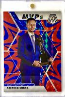 2019-20 Panini Prizm Mosaic Stephen Curry Blue Reactive MVP Warriors 🔥📈