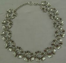 BEAUTIFUL MEXICAN SILVER FLORAL DESIGN NECKLACE FASHION JEWELRY WOMEN ACCESSORY
