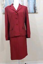 LE SUIT Women 2PC Elegant Wine Red Skirt Suit Size 14