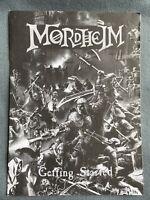 WARHAMMER MORDHEIM GETTING STARTED BOOKLET BOOK GAMES WORKSHOP OOP CITADEL BITS