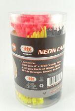 """500 piece 4"""" Inch Nylon Cable Ties 5 Color Zip Tie Wrap 3/32 High Viz Wire Strap"""