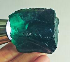 311Ct Natural Blue Fluorite Crystal Specimen Rough YVB191