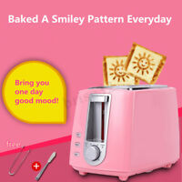 2 Slice Toaster Pink 220V Home Kitchen Breakfast Making Tool Warm Bread Toaster