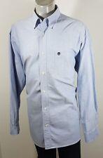 Timberland Da Uomo Heavy Cotton Abbottonato Camicia Casual 2XL Super condizione