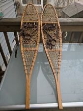 Beaver Tail Style Snowshoes with Bindings, 40 Inches long, 8 inches wide