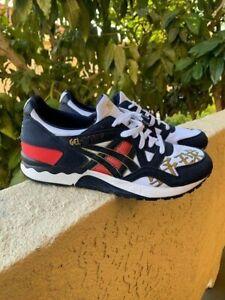 Men's Asics Gel-Lyte V 1193A157 101 Running Shoes Red White Navy Tigers Sz 11.5