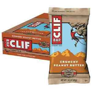 Clif Bar Energy Bars - Cliff Bars Box Of 12 X 68g Bars Crunchy Peanut Butter