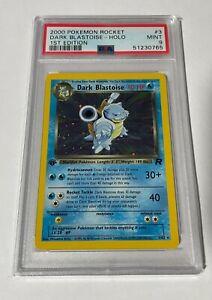 Pokemon Card 2000 Rocket Set Dark Blastoise 1st Edition HOLO 3/82 PSA 9 MINT
