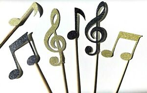 12 x Musical Note Cupcake Topper / Clef / celebrations / Music / Notes