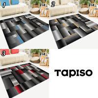 Teppich Kurzflor Vierecke Grau Verwischt Modern Designer Wohnzimmer Geometrisch