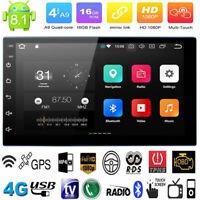 7'' Android 8.1 Double 2 DIN 16G Quad Core GPS Car Stereo MP3 Player FM + Camera