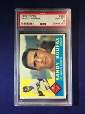 1960 Topps Sandy Koufax #343 PSA 8 Los Angeles Dodgers HOF