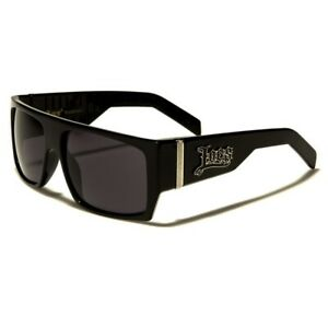 Locs Sunglasses - Men's Large Flat Top Frame - Black - Free Post In Aus UV 400