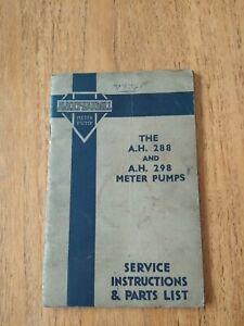 Vintage Avery Hardoll petrol pump manual.