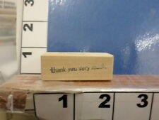 saying THANK YOU VERY MUCH word greeting     RUBBER STAMP 5y