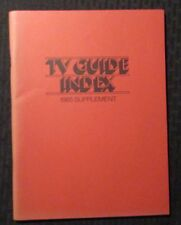 1985 TV GUIDE INDEX Supplement SC FVF 7.0 Triangle Publications 70pgs