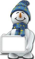 Cute snowman & SIGNE Xmas NOËL carton découpe présentoir prop décoration