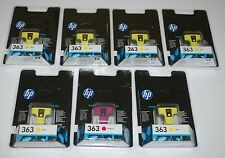 Job Lot 6 x HP 363 Jaune Cartouches d'encre & 1 x magenta scellé d'origine