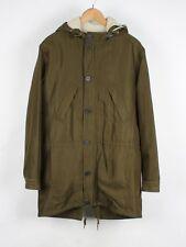 APC Hooded Men Long Jacket Coat Parka Size XS (Small)