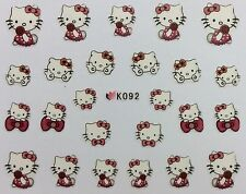 Nail Art 3D Decal Stickers Hello Kitty Roses Peace Bows K092