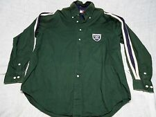 Tommy Hillfiger Green Mens Button Down Shirt Small M with H Shield on Pocket