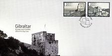Gibraltar 2017 Fdc Castles Europa 2v Set Cover Architecture Stamps