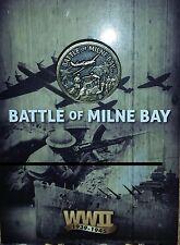 BATTLE OF MILNE BAY - NEW GUINEA 1942 - LAPEL PIN WW2 - MINT