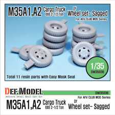 DEF.MODEL, DW35036, U.S. M35A1/A2 Cargo Truck Wheel set- sagged (for AFV ), 1:35