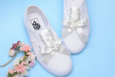 Ivory Lace VANS shoes for bride Wedding Sneaker Bridal trainers Bridesmaid shoes