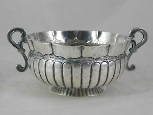Antique Hammered Spanish Colonial Silver Bowl 352 grams