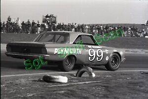 1966 NASCAR racing Photo negative Paul Goldsmith Plymouth Riverside, California.