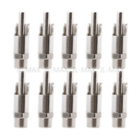 10PCS Straw Type Stainless Steel Pig Automatic Nipple Drinker Waterer Feeder