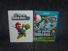 NINTENDO WII U - NEW SUPER MARIO BROS U - Game + Rare/OOP Steelbook Case