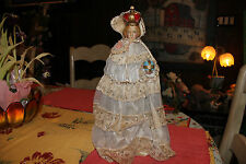 Vintage Infant Of Prague Chalkware Statue-Large-Christianity Jesus Religious