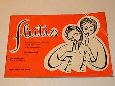 PARTITION sheet music 1972 METHODE FLUTIO flute à BEC théo NEUMEISTER occe